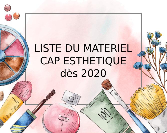 La nouvelle liste du matériel du CAP dès 2020